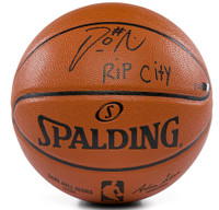 "DAMIAN LILLARD Autographed ""Rip City"" Portland Trailblazers Spalding Replica Basketball Limited Edition of 100 PANINI"