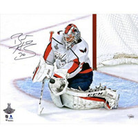 "BRADEN HOLTBY Autographed Washington Capitals Stanley Cup 16"" x 20"" Photograph FANATICS"