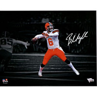 "BAKER MAYFIELD Autographed Cleveland Browns 11"" x 14"" Spotlight Photograph FANATICS"