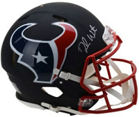 DESHAUN WATSON Autographed Houston Texans Black Matte Speed Authentic Helmet FANATICS