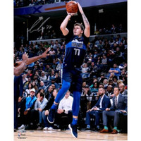 "LUKA DONCIC Autographed Dallas Mavericks 'Fade Away' 16"" x 20"" Photograph FANATICS"
