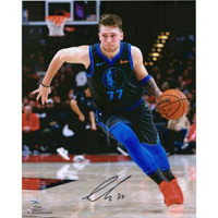 "LUKA DONCIC Autographed Dallas Mavericks 'Dribbling' 16"" x 20"" Photograph FANATICS"