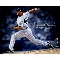 """MARIANO RIVERA New York Yankees Autographed / Inscribed """"HOF 2019"""" 'Pitching' 8"""" x 10"""" Photograph STEINER"""