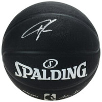 GIANNIS ANTETOKOUNMPO Autographed Milwaukee Bucks Spalding Arena Series Black Basketball FANATICS