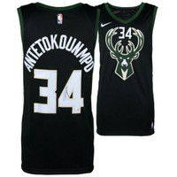 GIANNIS ANTETOKOUNMPO Autographed Nike Black Statement Edition Swingman Jersey FANATICS