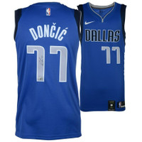 LUKA DONCIC Autographed Dallas Mavericks Nike Blue Swingman Jersey FANATICS