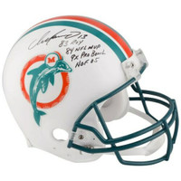 DAN MARINO Autographed Career Stat Miami Dolphins Throwback 1980-1996  Pro-Line Helmet Limited Edition of 113 FANATICS