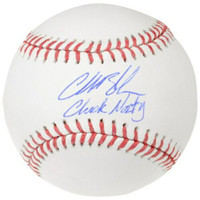 "CHARLIE BLACKMON Autographed ""Chuck Nazty"" Colorado Rockies Official Baseball FANATICS"