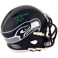 RUSSELL WILSON Autographed Seattle Seahawks Speed Mini Helmet FANATICS