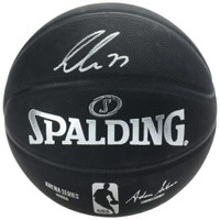 LUKA DONCIC Autographed Dallas Mavericks Arena Series Black Spalding Basketball FANATICS