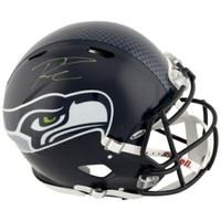 RUSSELL WILSON Autographed Seattle Seahawks Speed Authentic Helmet FANATICS