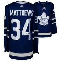 AUSTON MATTHEWS Autographed Toronto Maple Leafs Authentic Blue Adidas Jersey FANATICS