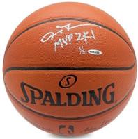 "ALLEN IVERSON Philadelphia 76ers Autographed / Inscribed ""MVP 2K1"" Spalding Basketball UDA Limited Edition 3 of 30"