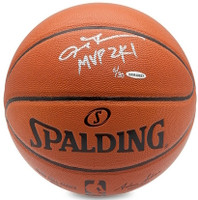 "ALLEN IVERSON Philadelphia 76ers Autographed / Inscribed ""MVP 2K1"" Spalding Basketball UDA Limited Edition 3 of 30"