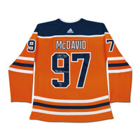 "CONNOR McDAVID Edmonton Oilers Autographed / Inscribed ""41 G, 67 A, 108 Pts"" Edmonton Oilers Orange Authentic Jersey UDA LE 97"