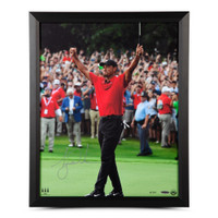 "TIGER WOODS Autographed ""Exultation"" 16 x 20 Photograph UDA"