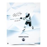 "CONNOR McDAVID Edmonton Oilers Autographed / Inscribed ""Clarity"" 16 x 20 Photograph UDA LE 97"