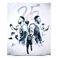 """BEN SIMMONS Autographed """"25 Blue"""" Philadelphia 76ers 20"""" x 24"""" Photograph UDA LE 125"""