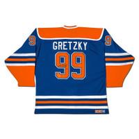"WAYNE GRETZKY Autographed ""Heroes of Hockey"" Edmonton Oilers Blue CCM Jersey UDA"