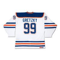 "WAYNE GRETZKY Autographed ""Heroes of Hockey"" Edmonton Oilers White CCM Jersey UDA"