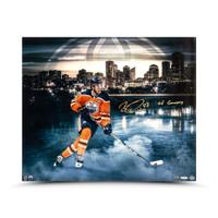 "CONNOR McDAVID Autographed ""River City"" Oilers 20 x 24 Photograph UDA LE 97"