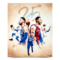 "BEN SIMMONS Autographed ""25"" Philadelphia 76ers 20"" x 24"" Photograph UDA"