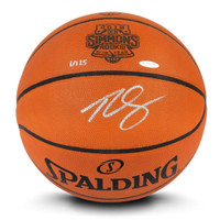 "BEN SIMMONS Philadelphia 76ers Autographed ""ROY"" Logo Engraved Authentic Basketball UDA LE 125"