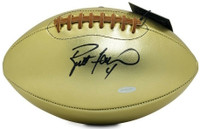 BRETT FAVRE Green Bay Packers Autographed Leather Head Pro Series Golden Goose Football UDA