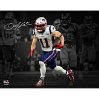 "JULIAN EDELMAN Autographed New England Patriots Super Bowl 53 ""Spotlight"" 11"" x 14"" Photograph FANATICS"