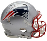 JULIAN EDELMAN Autographed New England Patriots Authentic Speed Helmet FANATICS