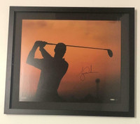 "TIGER WOODS Autographed ""Sunrise"" Framed 20 x 24 Photograph UDA"