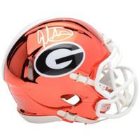 TODD GURLEY Autographed Georgian Bulldogs Speed Chrome Mini Helmet FANATICS