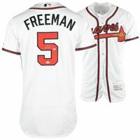 FREDDIE FREEMAN Autographed Atlanta Braves Home Authentic Jersey FANATICS