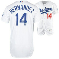 ENRIQUE HERNANDEZ Autographed Los Angeles Dodgers Home Authentic Jersey FANATICS