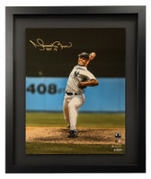 "MARIANO RIVERA Autographed / Inscribed New York Yankees ""HOF 2019"" 'Vertical Pitching' 16"" x 20"" Framed Photograph STEINER"