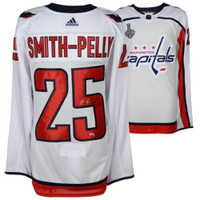 a8a5f186312 DEVANTE SMITH-PELLY Washington Capitals 2018 Stanley Cup Champions Autographed  White Adidas Authentic Jersey with