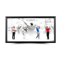 "TIGER WOODS Autographed ""Victory"" 36 X 18 Photo UDA Limited Edition of 80"