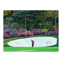 "TIGER WOODS Autographed Masters ""Azalea"" 30"" x 40"" Photo UDA"