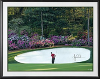 "TIGER WOODS Autographed and Framed ""Azalea"" 40 x 30 Photo UDA"