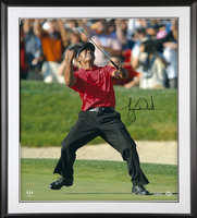 TIGER WOODS Autographed 2008 U.S. Open Championship Celebration 30 x 40 Framed Photo UDA
