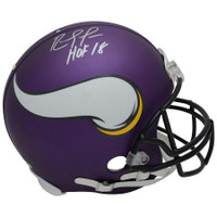"RANDY MOSS Autographed ""HOF 18"" Minnesota Vikings Proline Helmet FANATICS"