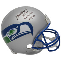 "STEVE LARGENT Autographed ""HOF 95"" Seattle Seahawks Proline Helmet FANATICS Limited Edition of 10"