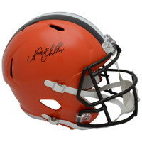 NICK CHUBB Autographed Cleveland Browns Full Size Speed Helmet FANATICS