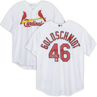 PAUL GOLDSCHMIDT Autographed St. Louis Cardinals Majestic Cool Base Replica Jersey FANATICS