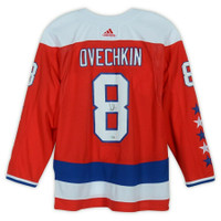 ALEX OVECHKIN Washington Capitals Autographed Red Adidas Authentic Alternate Jersey FANATICS