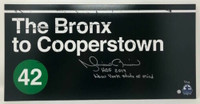 """MARIANO RIVERA Autographed / Inscribed """"HOF 2019"""" & """"New York State of Mind"""" 'Bronx to Cooperstown' 10"""" x 20"""" Photograph STEINER Limited Edition 1 of 42"""