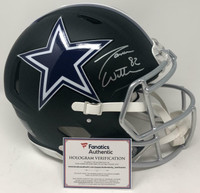 JASON WITTEN Autographed Dallas Cowboys Proline Authentic Black Matte Speed Helmet FANATICS