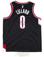 "DAMIAN LILLARD Autographed / Inscribed ""Rip City"" Portland Trailblazers Nike Swingman Black Jersey Limited Edition 1 of 100 PANINI"