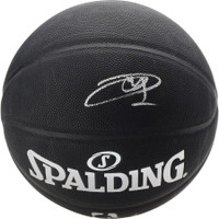 JOEL EMBIID Philadelphia 76ers Autographed Black Spalding Basketball FANATICS