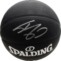 SHAQUILLE O'NEAL Autographed Los Angeles Lakers Black Spalding Basketball FANATICS